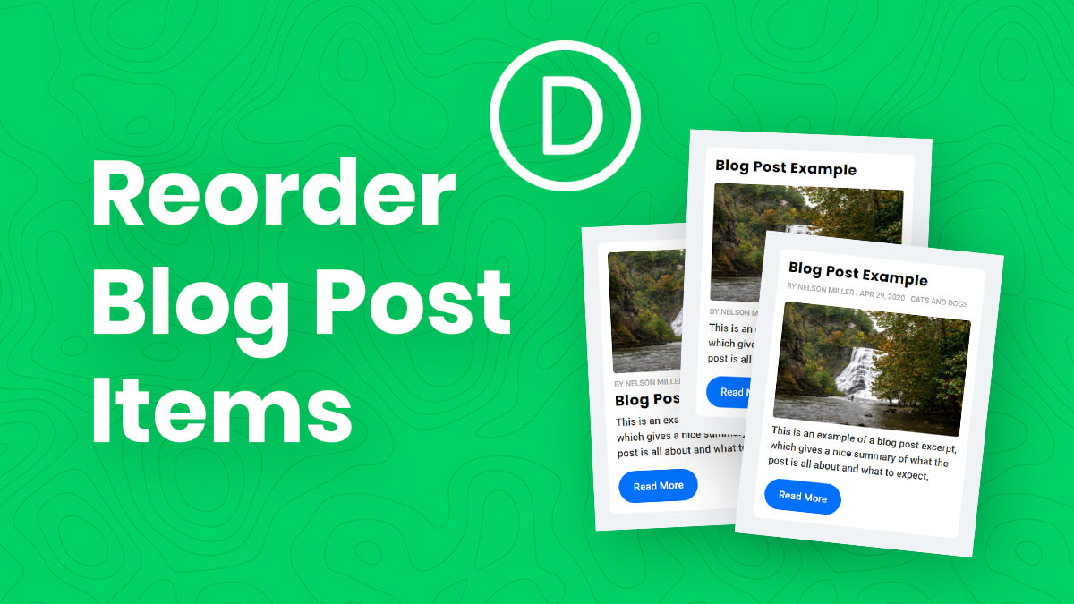 How To Reorder The Divi Blog Image, Title, Meta, Excerpt, and Button