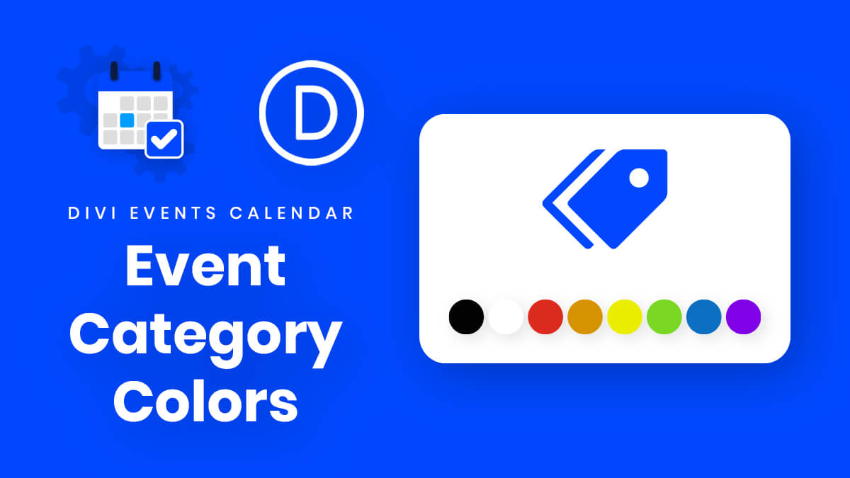 How To Highlight Event Categories By Color In Divi Events Calendar