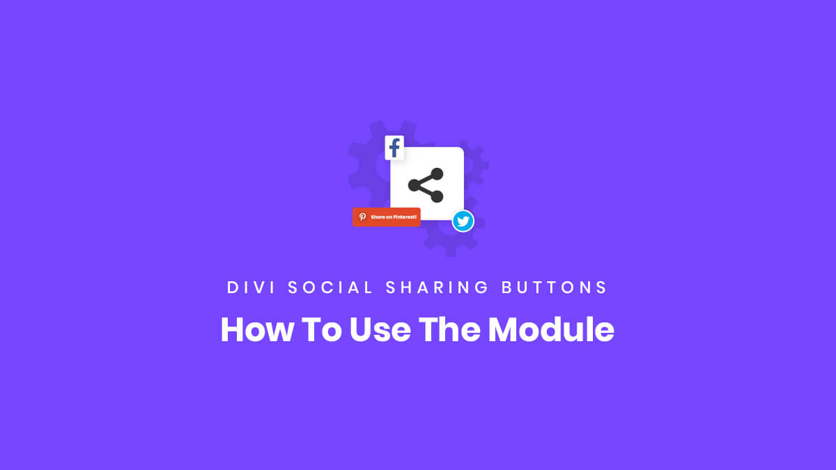 How To Use The Divi Social Sharing Buttons Module Plugin by Pee Aye Creative