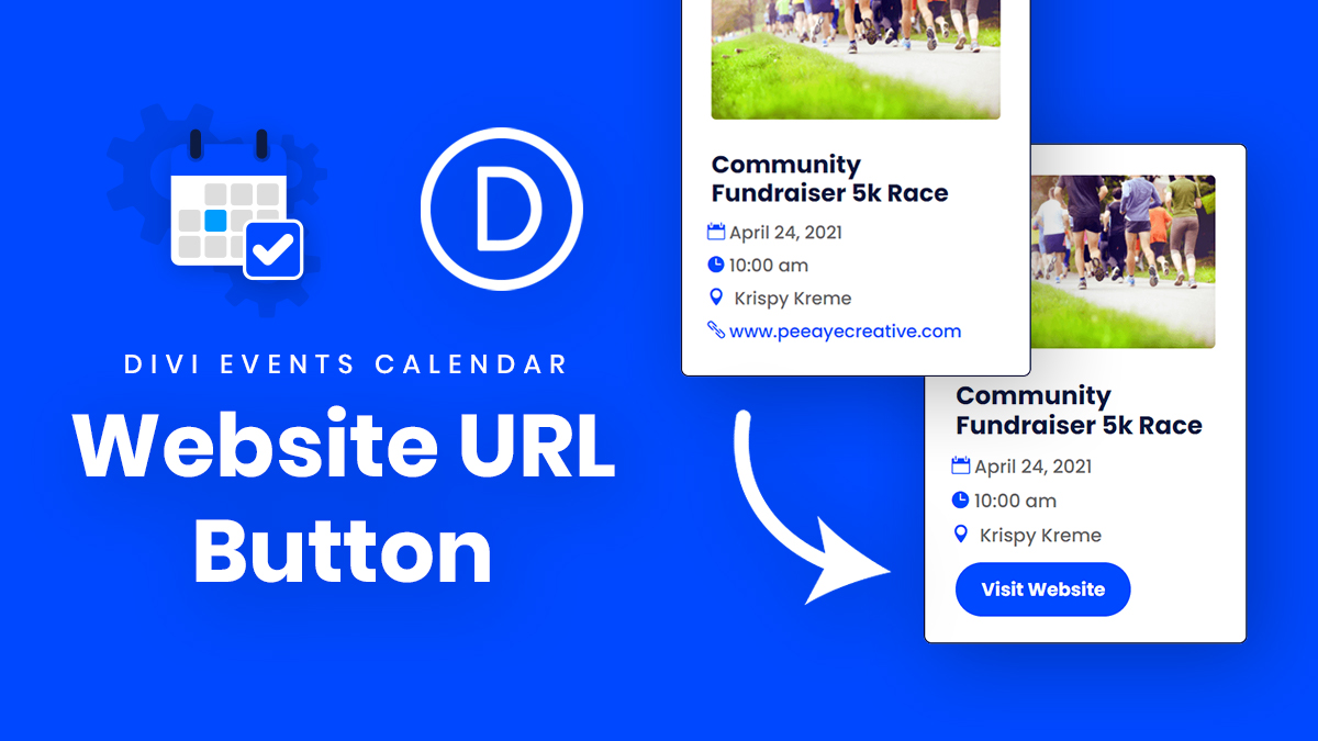 How To Change The Divi Events Calendar Website URL Field Into A Button