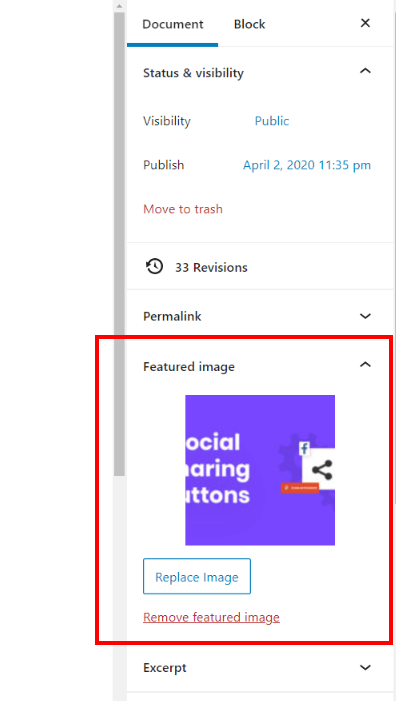 set the Divi page or post featured image to share on social media