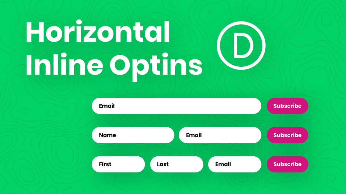 How To Create A Horizontal Inline Divi Email Optin Module (With 1, 2, Or 3 Fields)