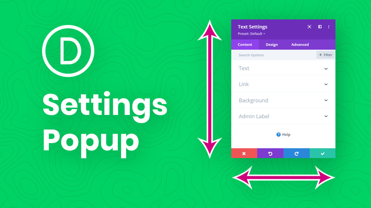 How To Set The Default Height, Width, And Position Of The Divi Builder Settings Popup