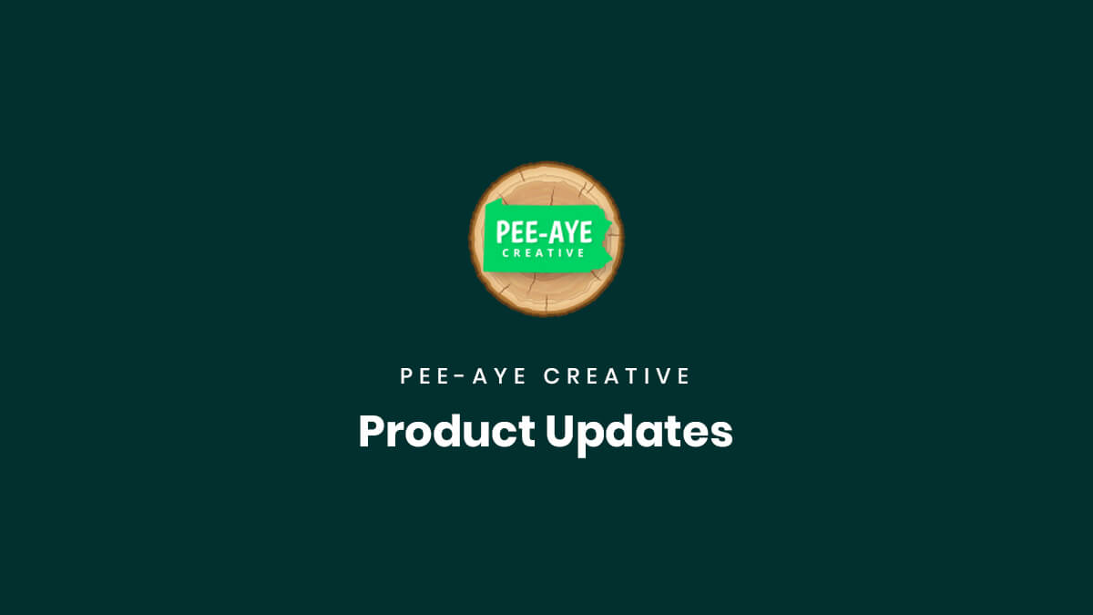 Product Updates Documenation Pee Aye Creative