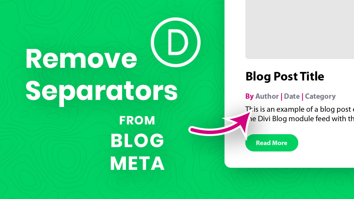 How To Remove The Divi Blog Module Meta Separators Tutorial by Pee Aye Creative