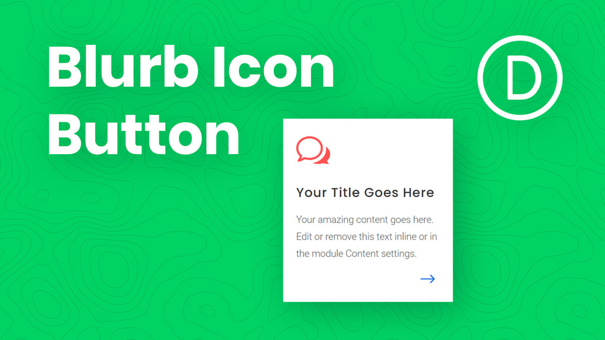 How To Add A Clickable Icon Button To A Divi Blurb Module