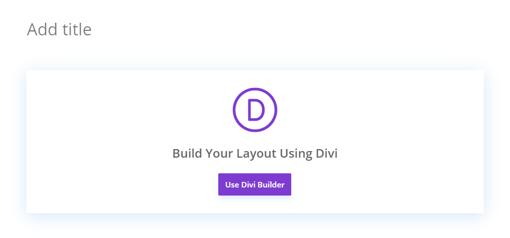 AFTER hide the Gutenberg Use Default Editor Button in Divi