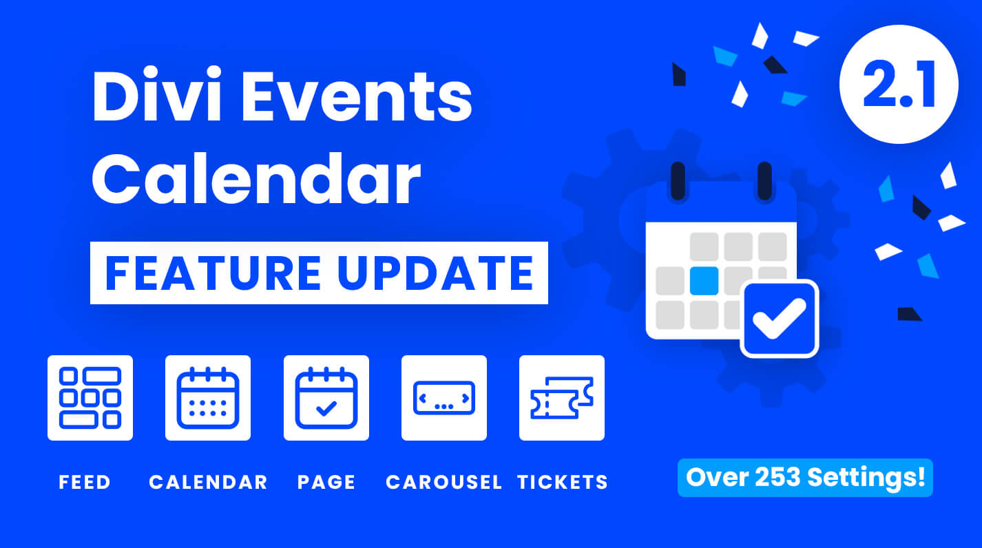 Divi Events Calendar Feature Update 2.1