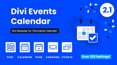 Divi Events Calendar plugin by Pee Aye Creative 2.1