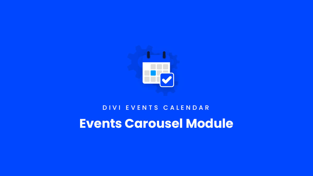 Events Carousel Module Overview for the Divi Events Calendar Plugin by Pee Aye Creative