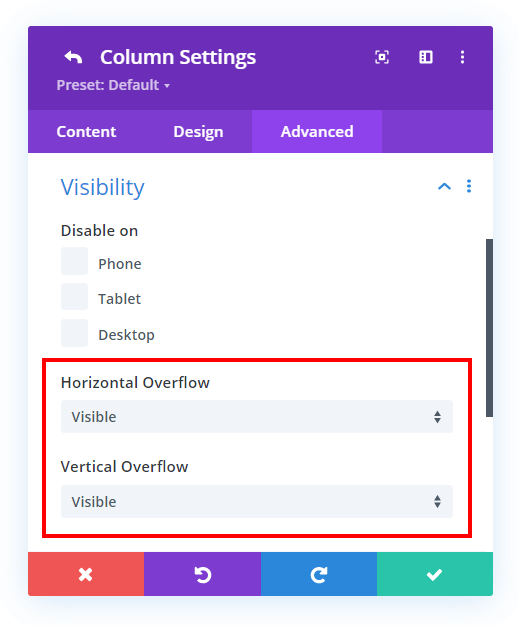 change the column visibility to overflow visibile