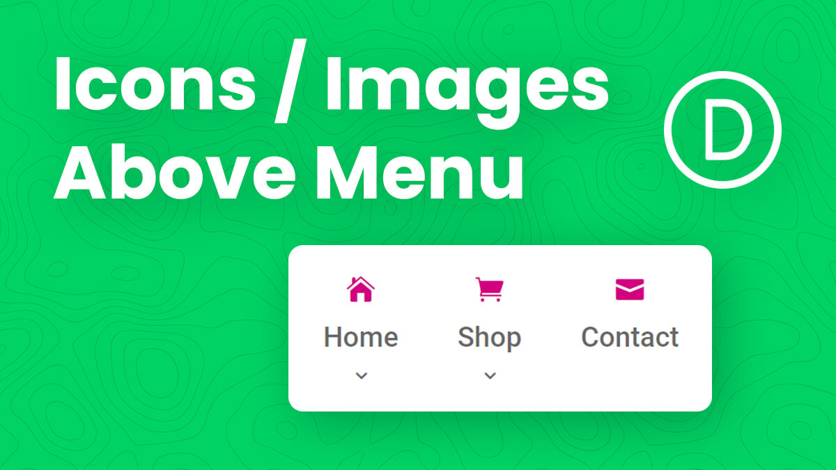How To Add Images Or Icons Above Divi Menu Items