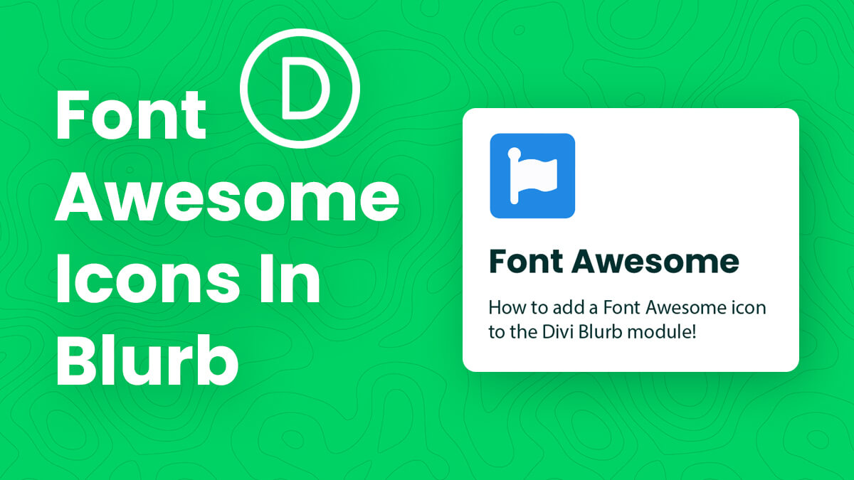 How To Replace The Divi Blurb Icon With A Font Awesome Icon