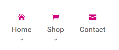 add icons positioned above Divi menu items