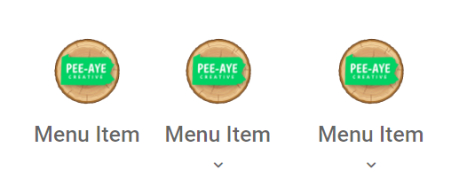 add images positioned above Divi menu items
