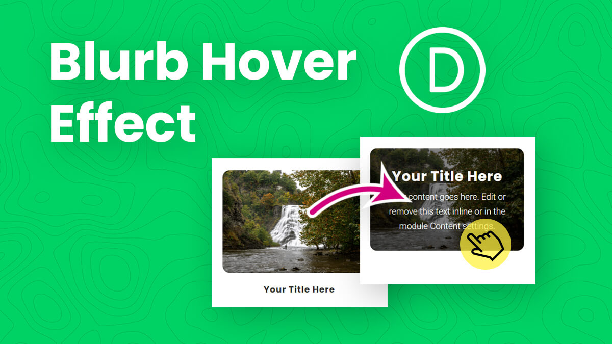 How To Add A Beautiful Hover Reveal Effect To The Divi Blurb Module