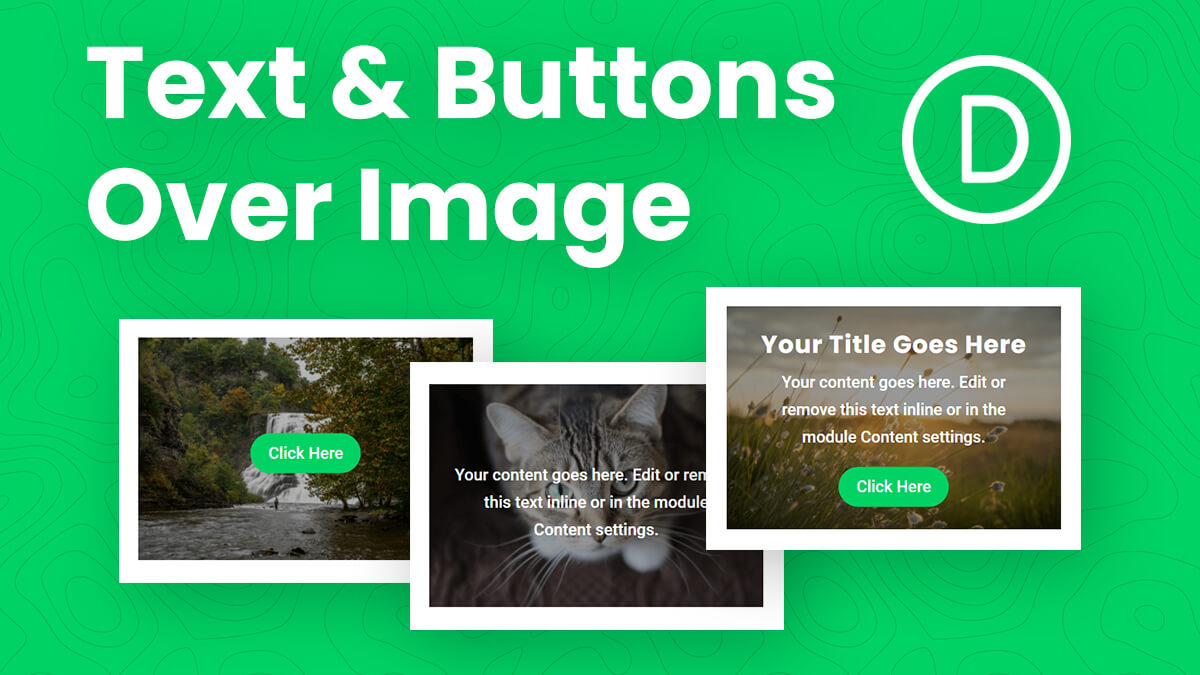 How To Place A Button And/Or Text Over An Image In Divi