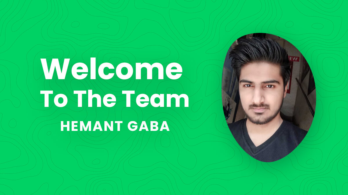 Welcome Hemant To Our Team