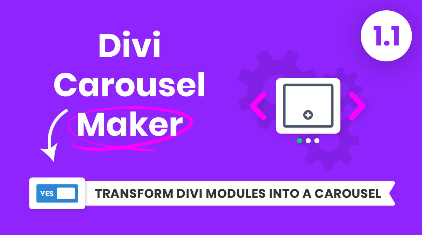 Divi Carousel Maker Product Featured Image Version 1.1 by Pee Aye Creative