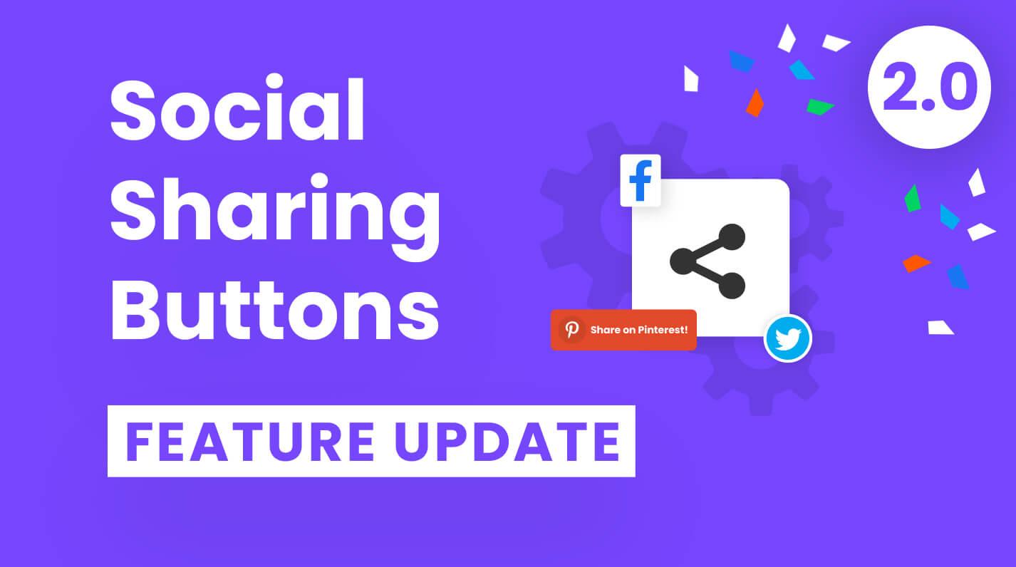 Divi Social Sharing Buttons Feature Update 2.0