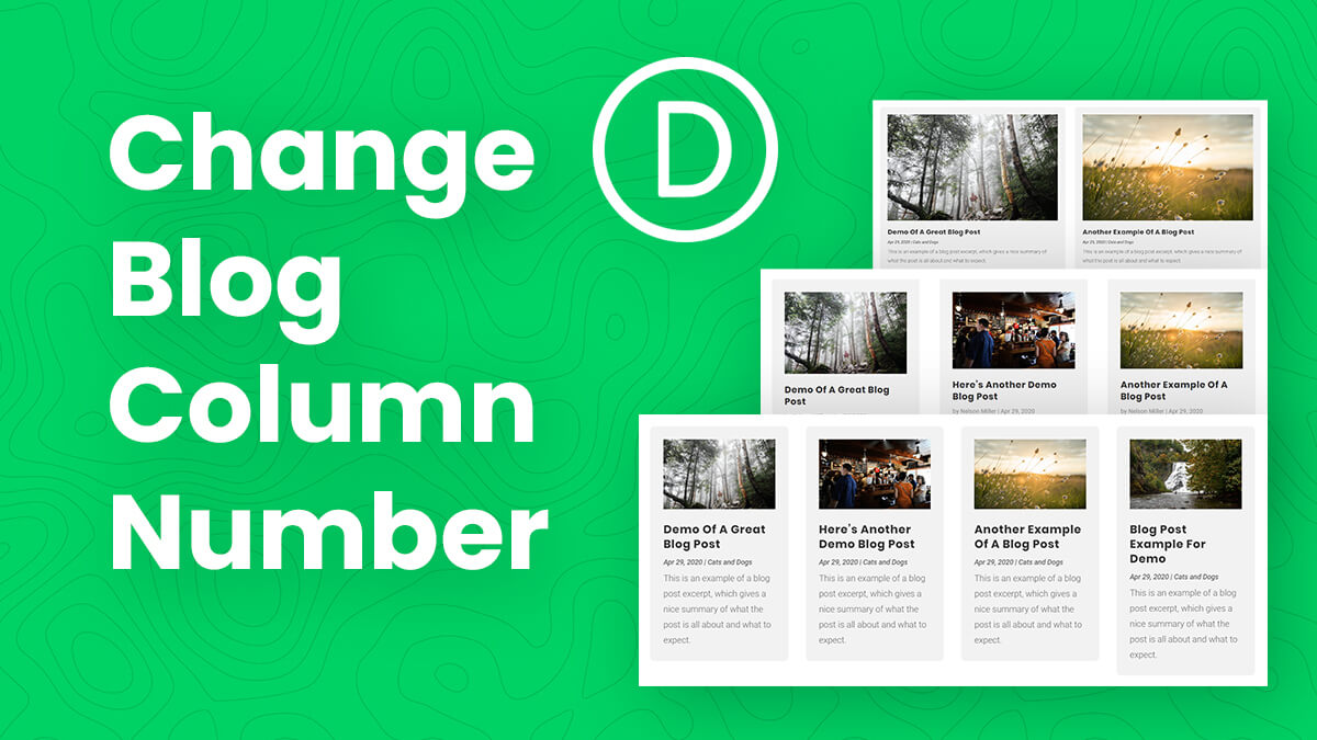 How To Change The Number Of Columns In The Divi Blog Module 2 3 4 Tutorial by Pee Aye Creative 1