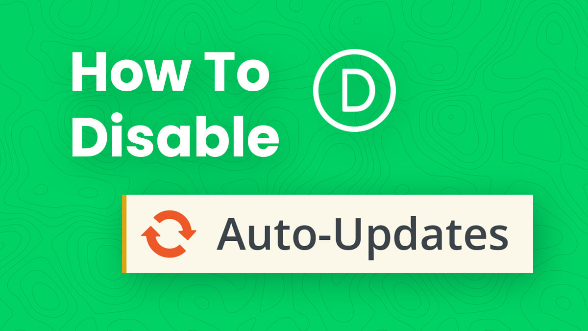 How To Disable Divi Auto-Updates