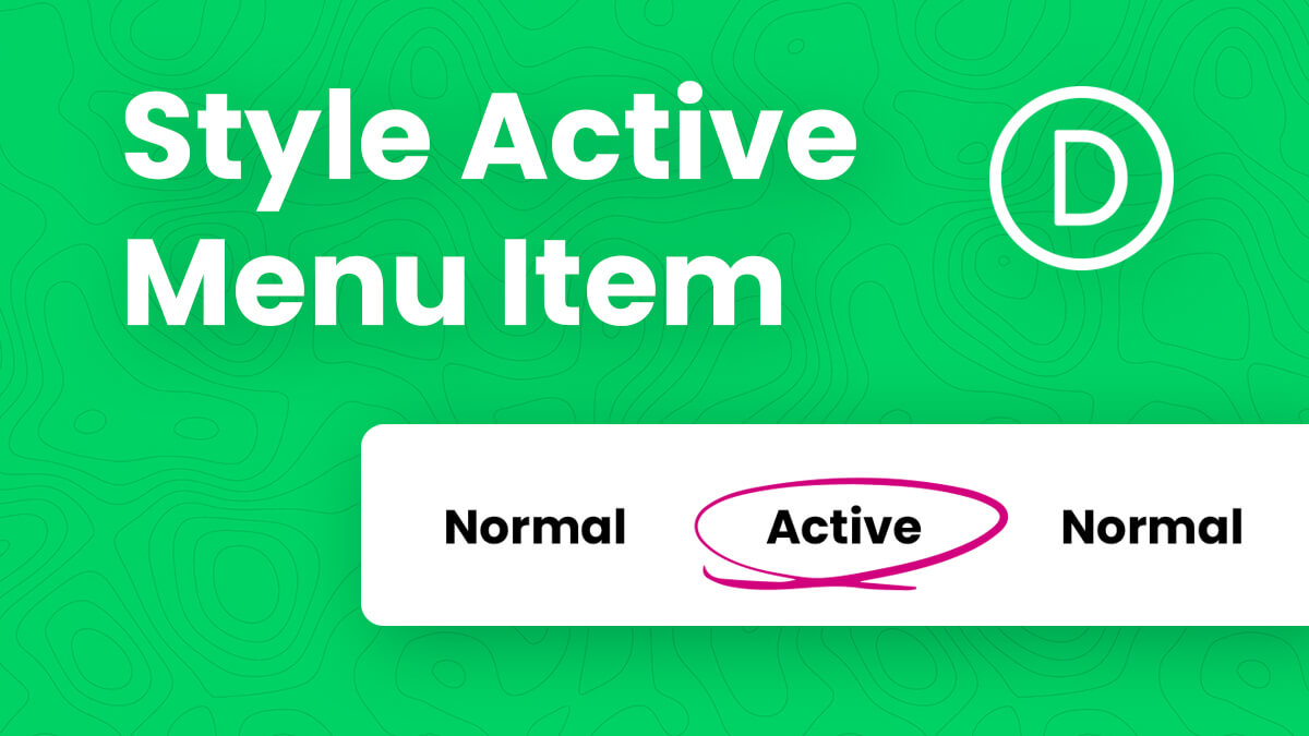 How To Style And Highlight The Active Menu Item In Divi