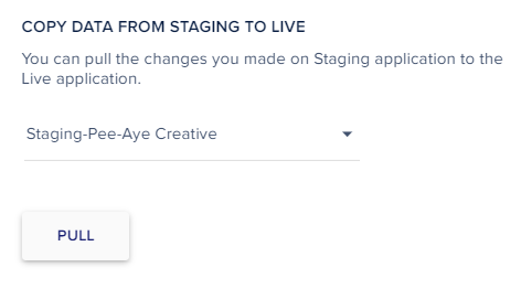 Pull Divi staging site to live in Cloudways