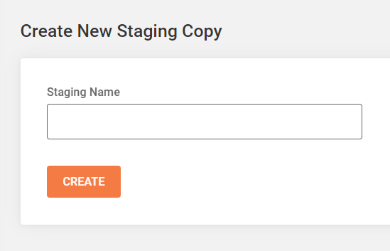 create new Divi staging copy in Siteground