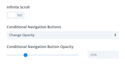 Conditional Navigation Buttons settings in the Divi Carousel Maker