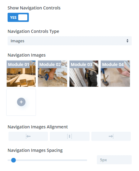 Divi Carousel Maker Navigation Controls Images
