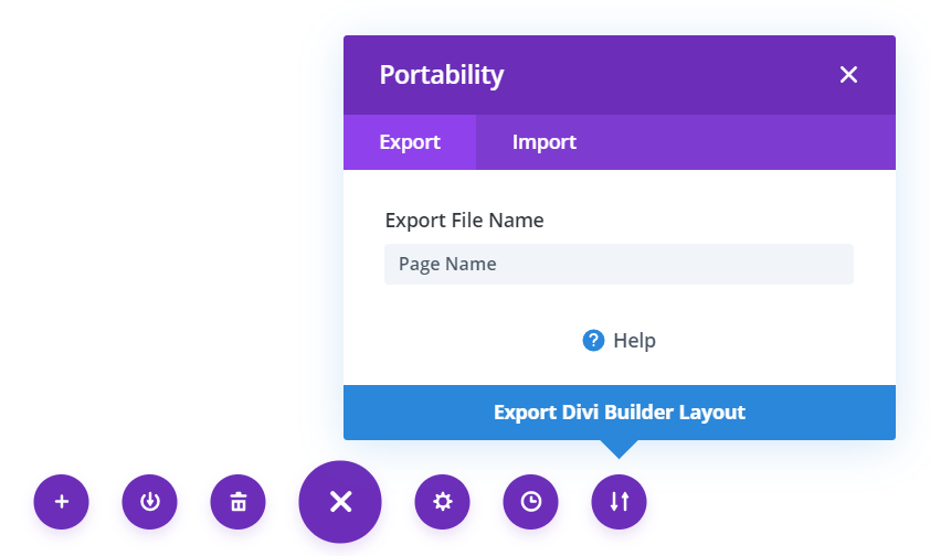 Export Divi Page Layout as a Backup