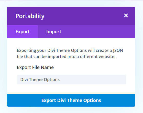 Export Divi Theme Options as a Backup