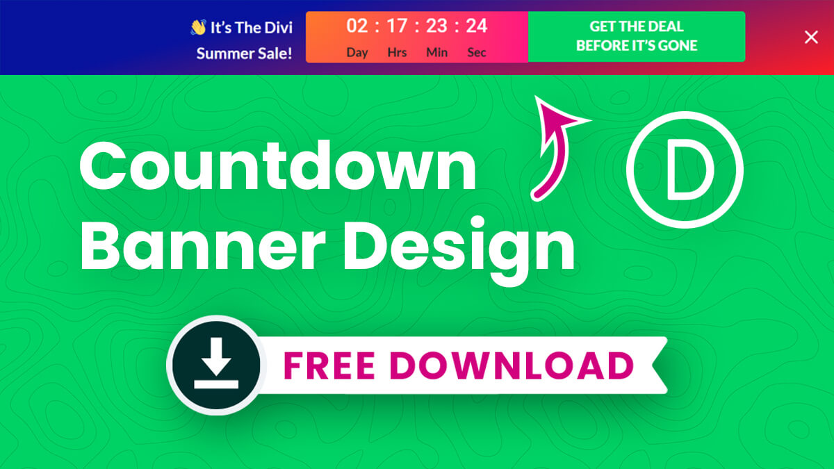 FREE Divi Countdown Banner Design Layout Styled Like the Divi Marketplace by Pee Aye Creative