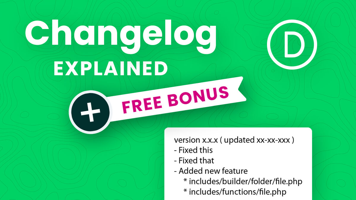 How To Access And Understand The Divi Changelog