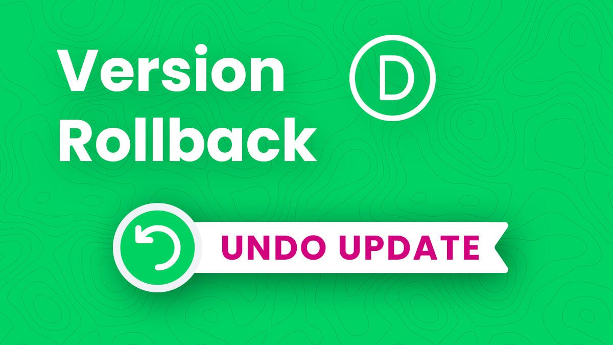 How To Roll Back Divi To The Previous Version After An Update Tutorial by Pee Aye Creative