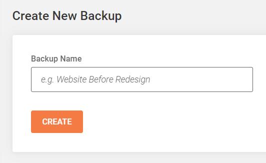 create new Divi website backup in Siteground
