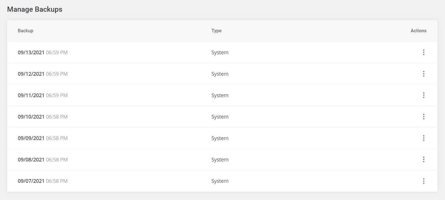 manage your Divi website backups in Siteground